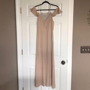 Tan long maxi dress